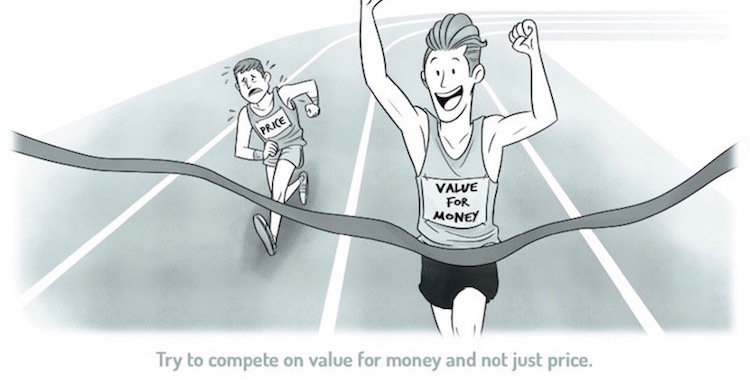 compete by offering value for money